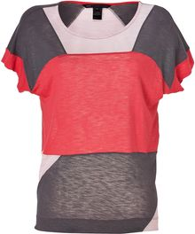Marc By Marc Jacobs Antique Redpinkgrey Colorblock Tanyal Tshirt - Lyst