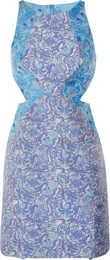 Richard Nicoll Cut Out Brocade Mini Dress - Lyst