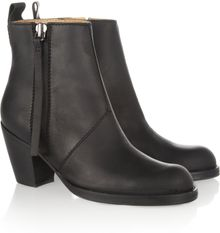 Acne Pistol Leather Ankle Boots - Lyst