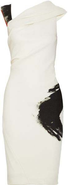 Donna Karan New York Artist Draped Stretchjersey Dress - Lyst