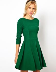 ASOS Collection Asos Skater Dress in Ribbed Texture - Lyst