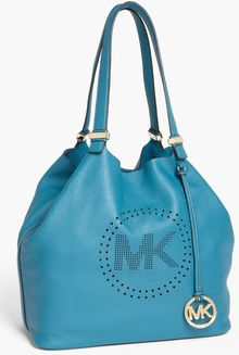 Michael by Michael Kors Perforated Mk Large Leather Tote - Lyst