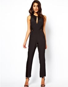 ASOS Collection Jumpsuit with Lace Inserts - Lyst