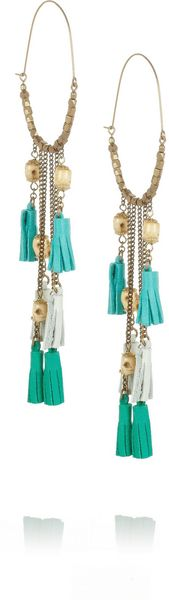 Isabel Marant Bone Leather and Brass Earrings - Lyst