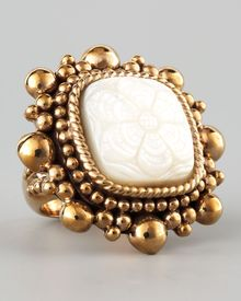 Stephen Dweck Floralcarved Motherofpearl Ring - Lyst