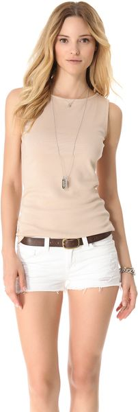 Three Dots Sleeveless Boat Neck Top - Lyst