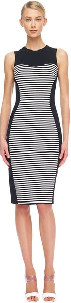 Michael Kors Solidpanel Striped Ponte Dress - Lyst