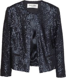 Helene Berman Cropped Sequined Jacket - Lyst