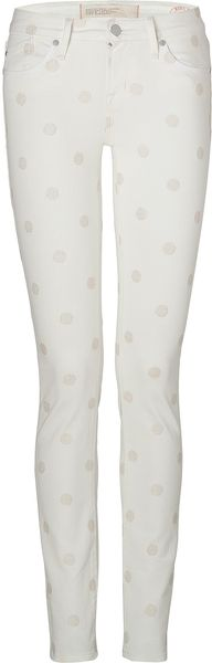 Marc By Marc Jacobs Bright White Dot Lou Skinny Jeans - Lyst