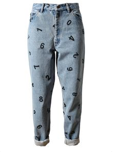 Ashish Number Printed Denim Jeans - Lyst
