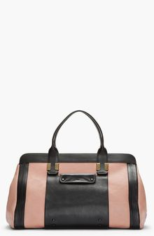 Chloé Large Dusty Rose Black Leather Alice Handbag - Lyst