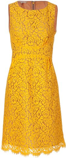 Michael Kors Sunflower Cotton blend Lace Dress - Lyst
