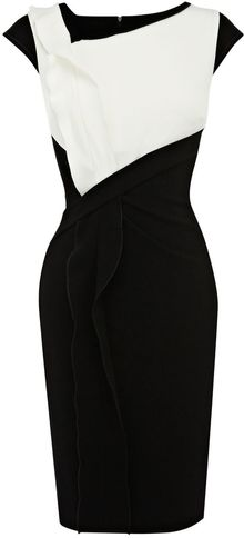 Karen Millen Minimal Crepe Shift Dress - Lyst
