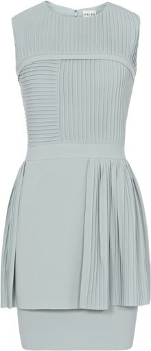 Reiss Semra Pleat Technique Dress - Lyst