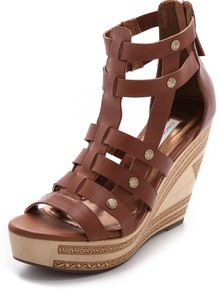 Twelfth Street by Cynthia Vincent Lulu Wedge Sandals - Lyst