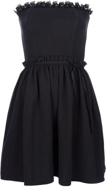 RED Valentino Strapless Mini Dress - Lyst