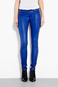 Hudson Blue My Mind Waxed Leather Juliette Skinny Jeans - Lyst