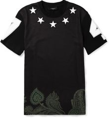 Givenchy Star Embellished Printed Cotton T-Shirt - Lyst