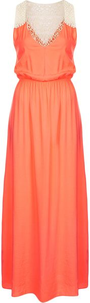 Topshop Tangerine Maxi Cover Up - Lyst