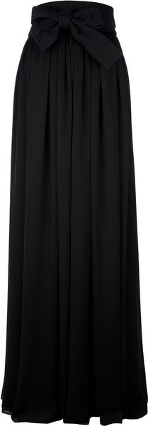 Lanvin Pleated Maxi Skirt - Lyst