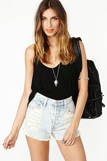 Nasty Gal Slasher Flick Cutoff Short Acid - Lyst