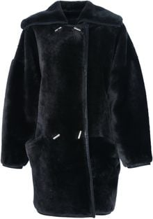 Gianni Versace Vintage Shearling Double Breasted Coat - Lyst