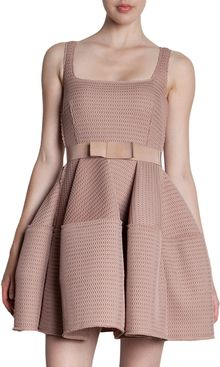 Lanvin Flare Skirt Belted Dress - Lyst
