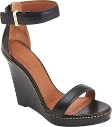 Givenchy Zipper Trim Wedge Sandal - Lyst