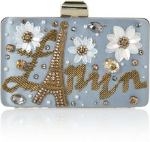 Lanvin Sea Breeze Embellished Satin Box Clutch - Lyst