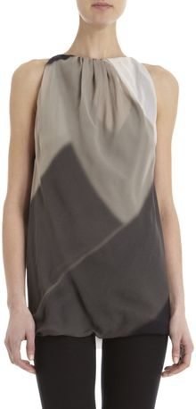 Rick Owens Fading Abstract Print Sleeveless Top - Lyst