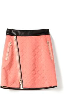 3.1 Phillip Lim Embossed Neoprene Biker Wrap Skirt - Lyst