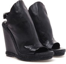 Balenciaga Glove Leather Wedges - Lyst