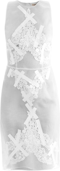 Christopher Kane Tape and Embroidered Organza Dress - Lyst