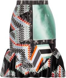 Peter Pilotto Lauena Printed Silk-Twill Skirt - Lyst