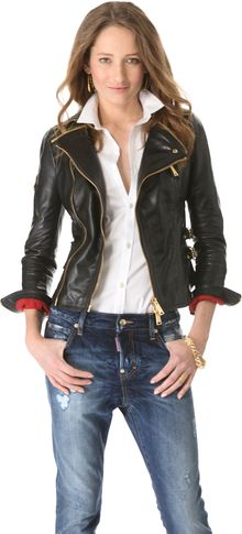 DSquared2 Cher Lapierre Leather Jacket - Lyst