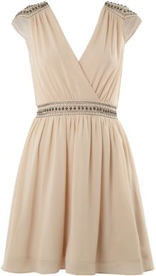 Tfnc Embellished Shoulder Cross Over Dress - Lyst