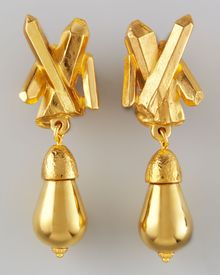 Jose & Maria Barrera Goldplated Crystalspike Clip Earrings - Lyst