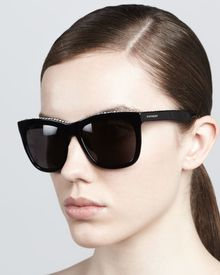 Givenchy Crystaltrim Square Sunglasses Black - Lyst