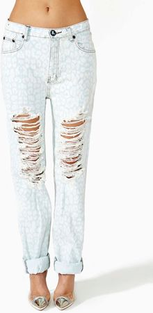 Nasty Gal Surrender Shredded Jeans - Lyst