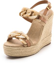 Tory Burch Alta Wedge Sandals - Lyst