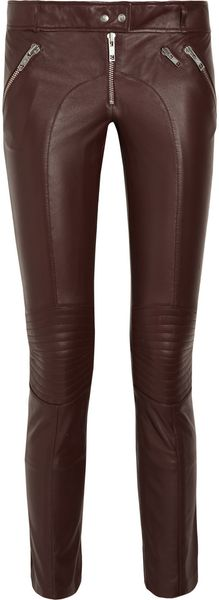 McQ by Alexander McQueen Skinny Leather Pants - Lyst