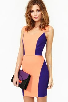 Nasty Gal Bright Angles Dress - Lyst