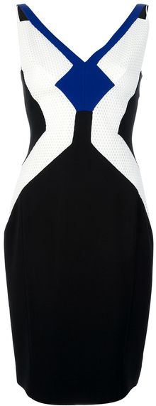 Antonio Berardi Contrast Panel Dress - Lyst