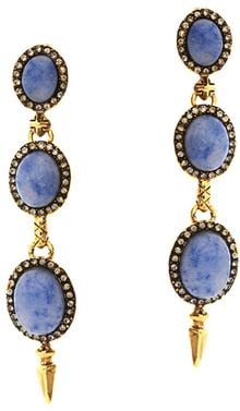 House Of Harlow Blue Star Drop Earrings - Lyst