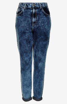 Moto Bleach Acid Mom Jeans - Lyst