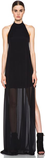 Theyskens' Theory Daller Fotel Silk Gown in Black - Lyst