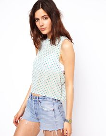 ASOS Collection Vest in Spot - Lyst