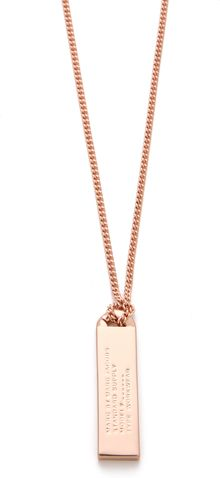 Marc By Marc Jacobs Trompe Loeil Toggles Turnlocks Id Tag Necklace - Lyst