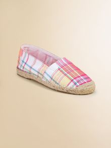 Ralph Lauren Girls Plaid Bowman Espadrille Flats - Lyst