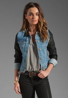 J Brand Coated Sleeve Denim Jacket in Bowie - Lyst